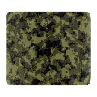 Camouflage military style pattern cutting board