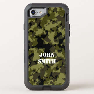 Camouflage military style pattern OtterBox defender iPhone 8/7 case