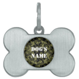 Camouflage military style pattern pet ID tag