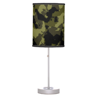 Camouflage military style pattern table lamp