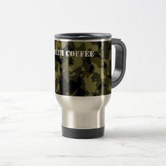 Camouflage military style pattern travel mug