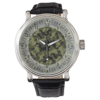 Camouflage military style pattern wristwatch