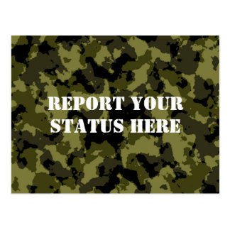Camouflage military style postcard