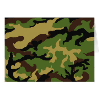 Camouflage Military Tribute Greeting Card