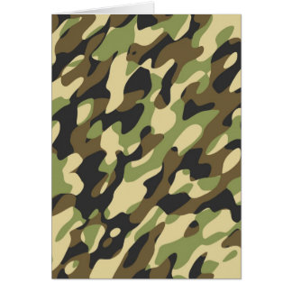 Camouflage note card