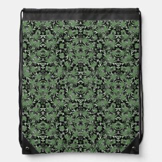 Camouflage Ornate Pattern Drawstring Bag