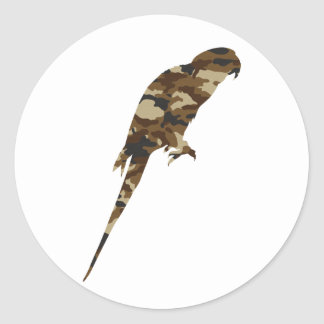 Camouflage Parakeet Silhouette Stickers