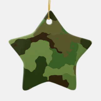 Camouflage Pattern Ceramic Ornament