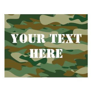 Camouflage pattern design postcards | Personalized