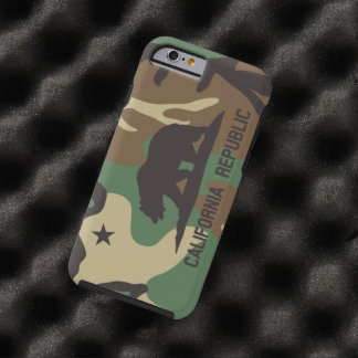 Camouflage Pattern Flag of California Republic Tough iPhone 6 Case