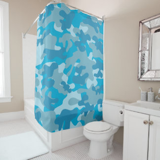 Camouflage Pattern in Blue