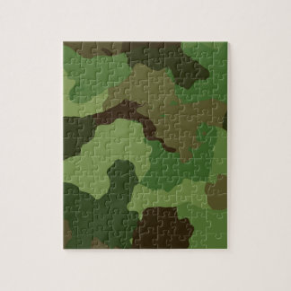 Camouflage Pattern Jigsaw Puzzle