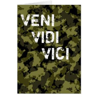 Camouflage pattern victory Veni Vidi Vici Card