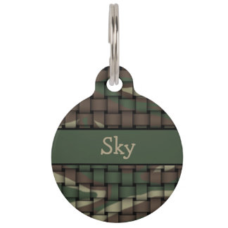 Camouflage Pet Tag