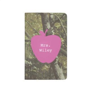 Camouflage + Pink Apple Teacher Journal