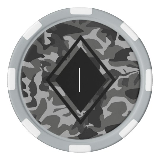 camouflage poker chips
