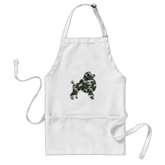 Camouflage Poodle Silhouette Standard Apron