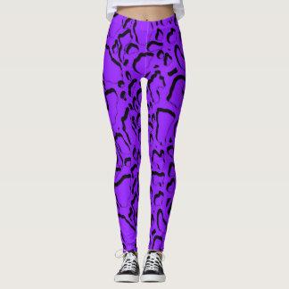 CAMOUFLAGE - Purple Leggings