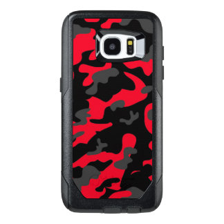 Camouflage Red Black Como Army Military Print
