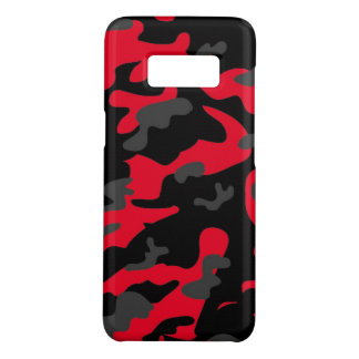 Camouflage Red Black Como Army Military Print Case-Mate Samsung Galaxy S8 Case