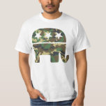 Camouflage Republican Elephant t shirt
