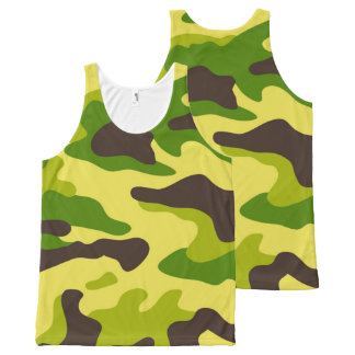 Camouflage seamless color pattern All-Over-Print tank top