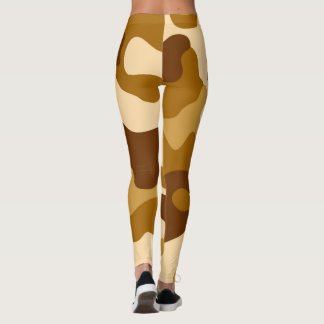 Camouflage seamless pattern leggings