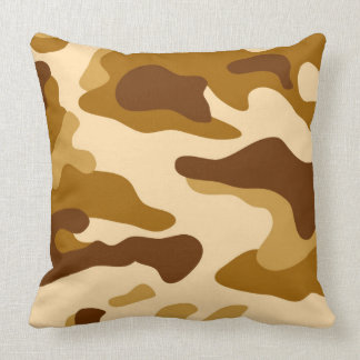 Camouflage seamless pattern throw pillow