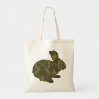 Camouflage Silhouette Easter Bunny Tote Bag