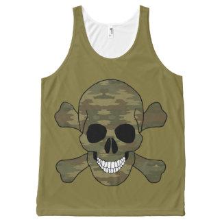 Camouflage Skull Tank Top
