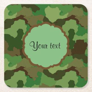 Camouflage Square Paper Coaster