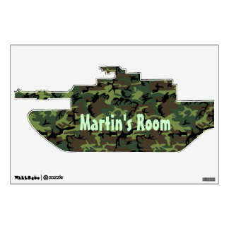 Camouflage  Tank Custom Door Sign Wall Decal