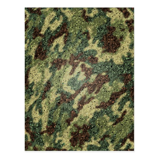 camouflage texture postcard