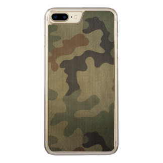 Camouflage Vintage Style Pattern Carved iPhone 7 Plus Case