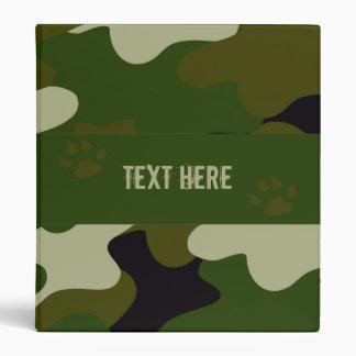 Camouflage Vinyl Binder