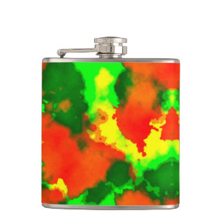 Camouflage Vinyl Wrapped Flask