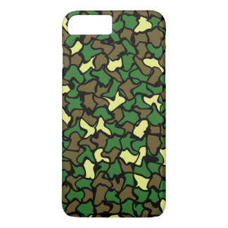Camouflage Wobble Tile Pattern iPhone 7 Plus Case