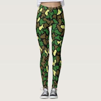 Camouflage Wobble Tile Pattern Leggings