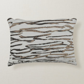 Camouflage wood decorative pillow