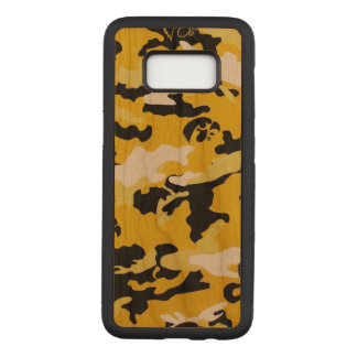 Camouflage Yellow Black Como Army Military Print Carved Samsung Galaxy S8 Case