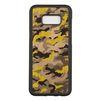 Camouflage Yellow Black Como Army Military Print Carved Samsung Galaxy S8+ Case