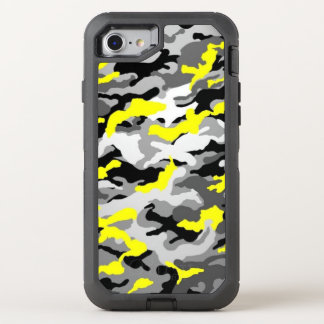 Camouflage Yellow Black Como Army Military Print OtterBox Defender iPhone 8/7 Case