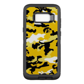 Camouflage Yellow Black Como Army Military Print OtterBox Defender Samsung Galaxy S8+ Case