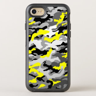 Camouflage Yellow Black Como Army Military Print OtterBox Symmetry iPhone 8/7 Case