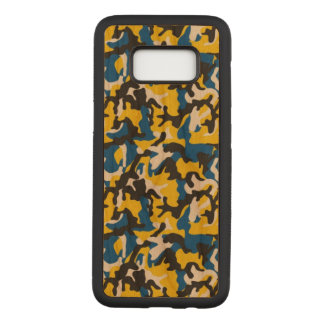 Camouflage Yellow Blue Como Army Military Print Carved Samsung Galaxy S8 Case