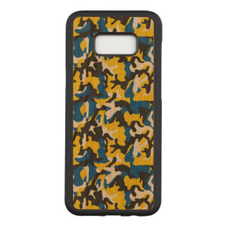 Camouflage Yellow Blue Como Army Military Print Carved Samsung Galaxy S8+ Case