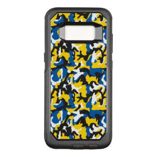 Camouflage Yellow Blue Como Army Military Print OtterBox Commuter Samsung Galaxy S8 Case