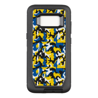 Camouflage Yellow Blue Como Army Military Print OtterBox Defender Samsung Galaxy S8 Case