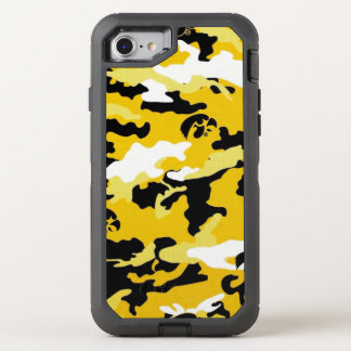 Camouflage Yellow Como Army Military Print OtterBox Defender iPhone 8/7 Case