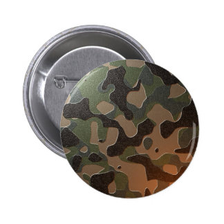 Camouflaged 2 Inch Round Button